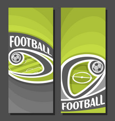 vertical banners for football vector image