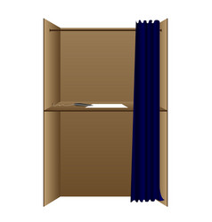 Voting cubicle vector