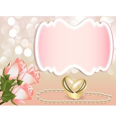 Wedding theme background vector image