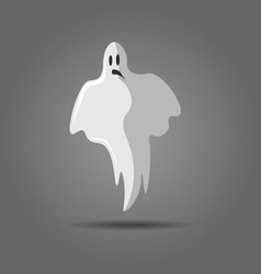 white ghost phantom silhouette isolated on gray vector image