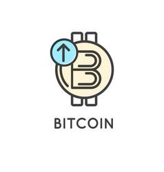 bitcoin technology modern icon vector image