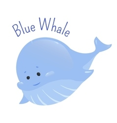 Blue whale isolated on white background vector