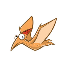 cartoon funny pteranodon vector image
