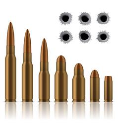 creative of realistic shot gun vector image