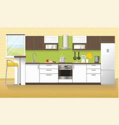 Modern Kitchen Interior vector image