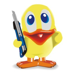duck with knife vector image vector image