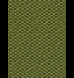 Green weave texture synthetic fiber geometric seam vector image