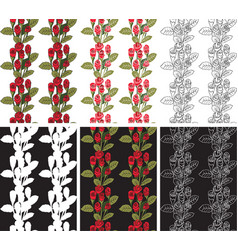 seamless pattern red roses vector image