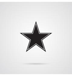 Star Dark Gray Icon over wnite vector image