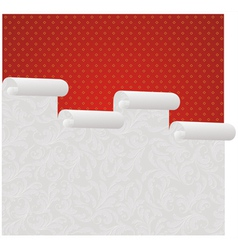 wallpaper roll vector image vector image