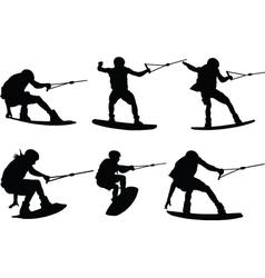 Water skiing - vector