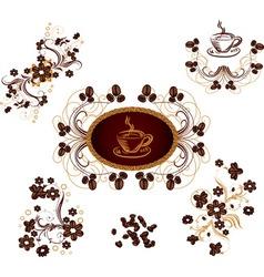 Coffee ornaments vector image vector image