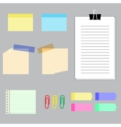 Paper banners with notes set vector