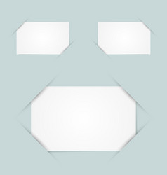 Paper holders vector image