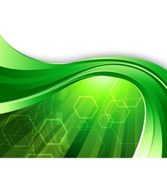 bright green technology vector image vector image