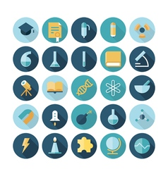 icons flat line science vector image