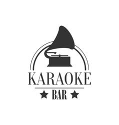 Vintage Music Player Karaoke Premium Quality Bar vector image vector image