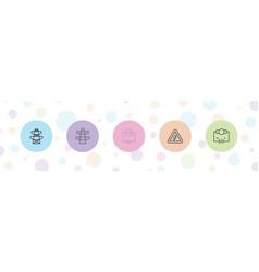 5 voltage icons vector