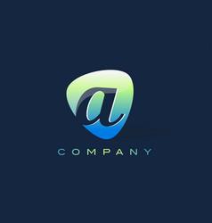 a letter logo oval shape modern design vector image