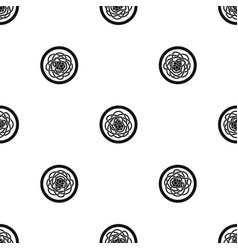 asian noodles pattern seamless black vector image