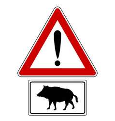 attention sign with optional label boar vector image