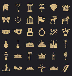 authority icons set simple style vector image