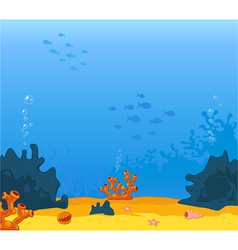 background underwater vector image