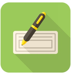Bank check icon vector