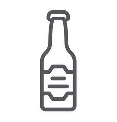 beer bottle line icon drink and alcohol lager vector image