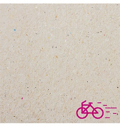 Bicycle and paper vector image