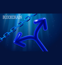 blockchain technology chain agreement business vector image