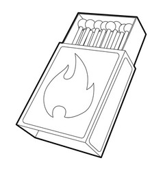 Box matches icon outline style vector