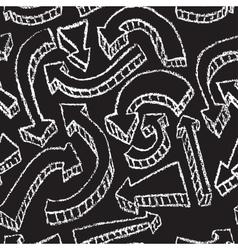 Chalkboard design elements Arrows Seamless pattern vector