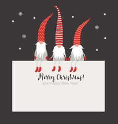 christmas card seasons greetings vector image