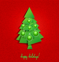 Christmas tree and balls vector image
