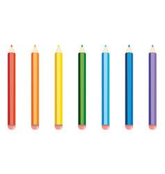 Colorful pencils design vector