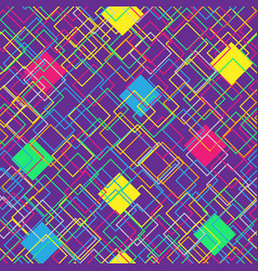 colorful seamless pattern on violet background vector image