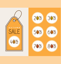 creative autumn sale tag design vector image vector image