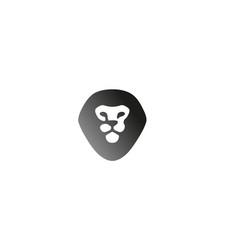 creative black lion head logo vector image