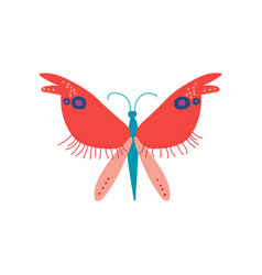 cute colorful butterfly insect top view vector image
