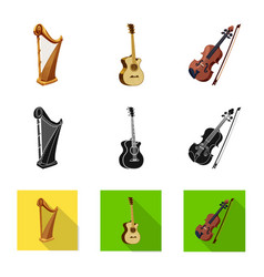 Design of music and tune logo set of music vector