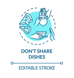 dont share dishes turquoise concept icon use vector image