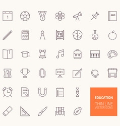 Education Outline Icons for web and mobile apps vector