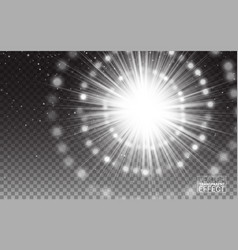 effect white rayslight flare abstract vector image
