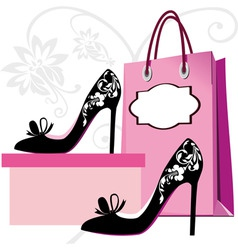 fashion shoes shopping vector image