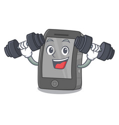 Fitness ipad in a mascot bag vector