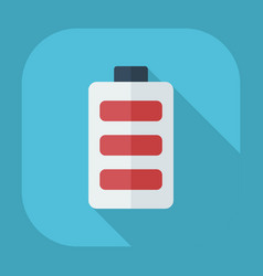 Flat modern design with shadow icons battery vector