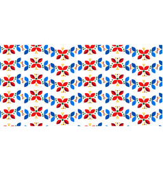 floral geometric minimal nordic scandinavian vector image
