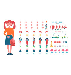 girl constructor with clothes and accessories vector image