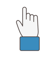 Hand clicking social media icon vector